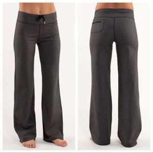 Lululemon Heathered Black Relaxed Fit Pant